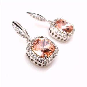 Jewelry - 💎 Stunning White Gold Filled Rhinestone Earrings